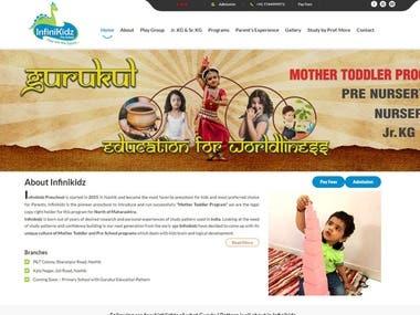 Website Design for Pre-School