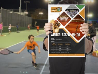 Poster For Kids Tennis Sports