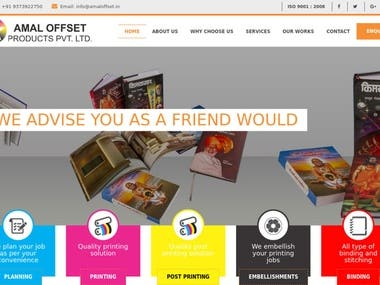 Website Design - For Amal Offste - Printing Industry