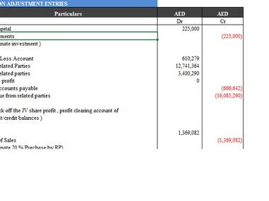 Prepared Consolidated Accounts