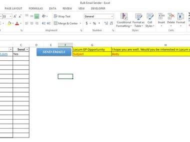 Excel Email Sender