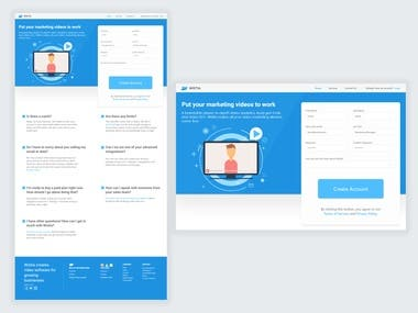 Video Marketing Landing Page
