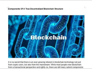 Content for Block chain site