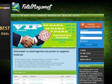 Sports betting portal www.totalnogomet.com