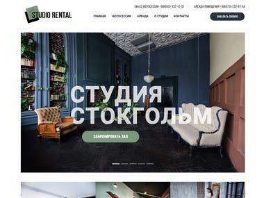 Landing Page, photo studio