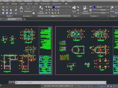 Structural Design Drawings (AutoCAD)
