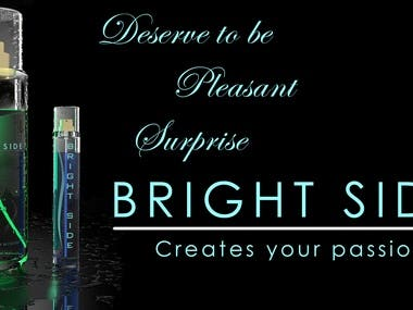 BRIGHT SIDE- WOMEN'S PERFUME(3 D-Product design)