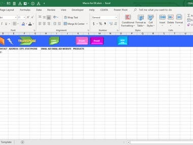 VBA Macro for Data Entry in Excel