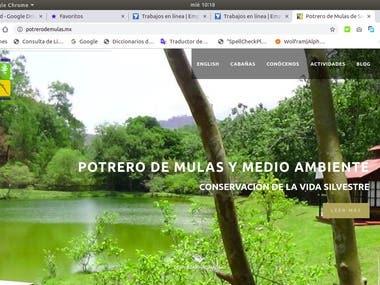 Potrero de mulas Website