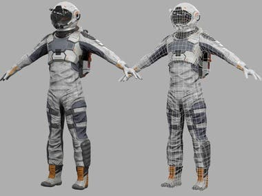 3D Game Character Modeling & Mapping