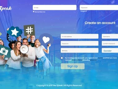 Social Web App