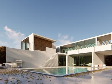 Villa 3D Render.
