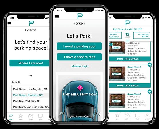 PARKEN(Parking Finder App)