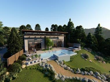 3D villa Renders