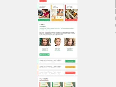 Create responsive and editable Mailchimp Email template