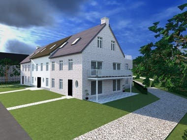 Project of apartments in 2d and 3D, Plans, Renders and Prese
