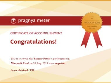 Excel Advanced Certification