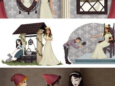 children's e-book illustration