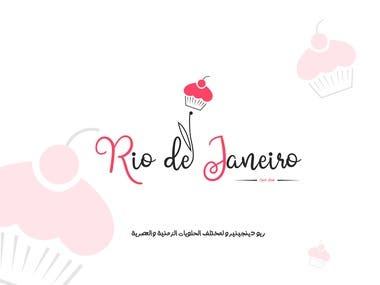 rio de janeiro (Sweets Shop) logo design