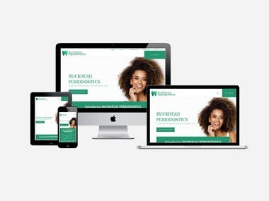 Design dentist website for Buckhead Periodontics