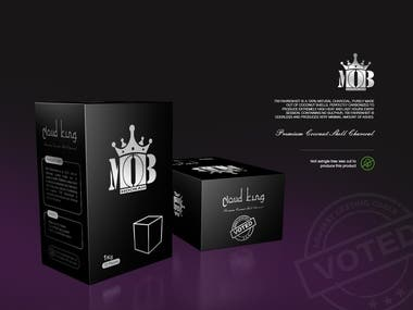 Packaging design for Charcoal Product- Cloud King
