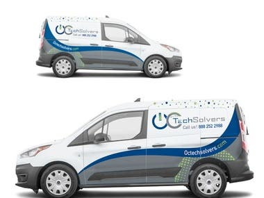 OCtechsolvers new van cover design