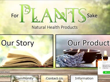For Plants Sake | Natural Health Products