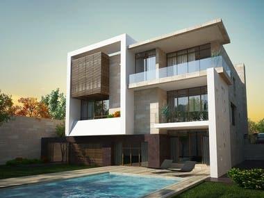 3D House render