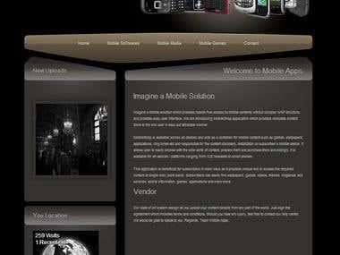 CMS Based Mobile Apps Shop