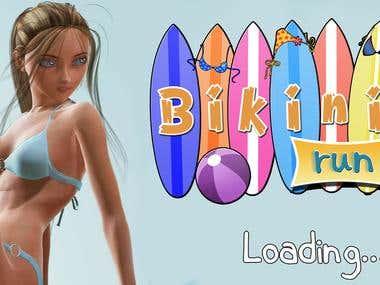 3d Bikni Runner game