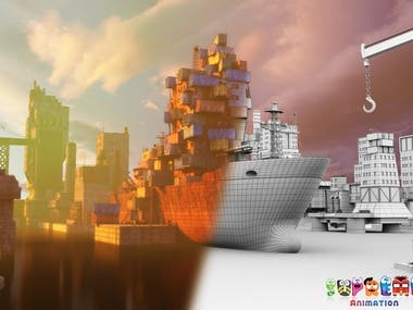 Ship Harbour Background for Game