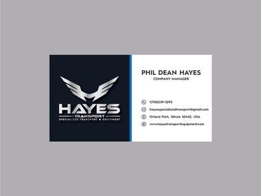 [Hayes Transport] Logo, Business Card and Letterhead