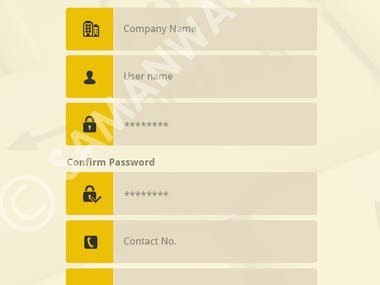 Examples of UI screens of a Job Search Mobile Application