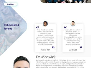 Dental Website Work
