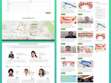 Web App for Avance Dental Care