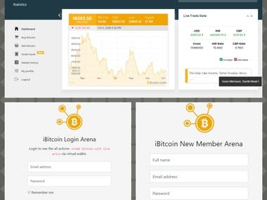 Cryptocurrency Trading Website