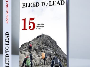 """Book Cover """"Bleed To Lead"""""""