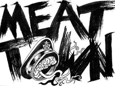 Meat Town T-shirt Logo