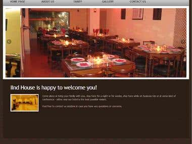Website design for Hotel