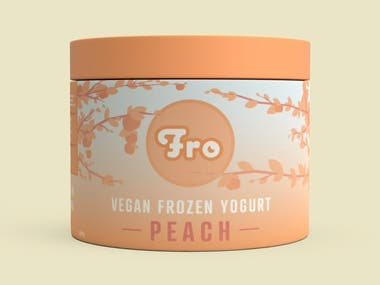 Fro - Vegan Frozen Yogurt Packaging