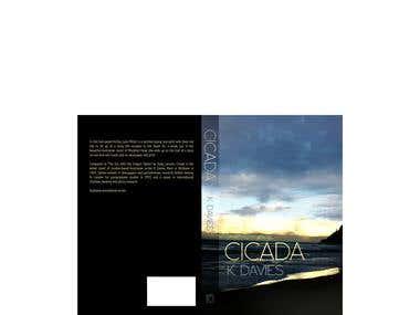 Book Cover design for the novel Cicada