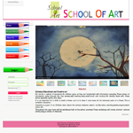 A website of an Art School