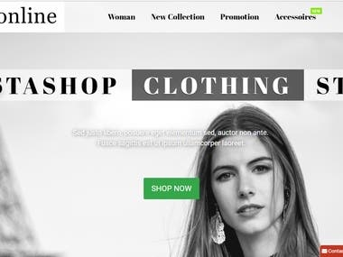 Clothing shop PrestaShop
