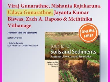Research article on serpentine soil