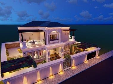 Villa exterior design and rendring