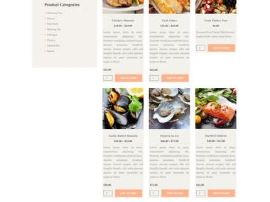Food Server Website By Wordpress.