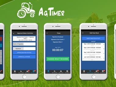 AgTimer (the recording and scheduling of employees hours)