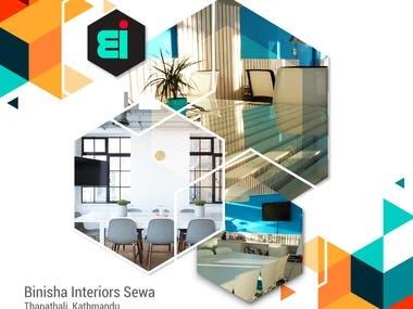 Banner design for interiro designing agency
