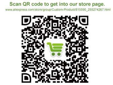 Scan QR code to get into our store.