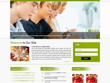 School Template Design